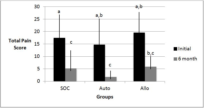 Comparison of pain scores